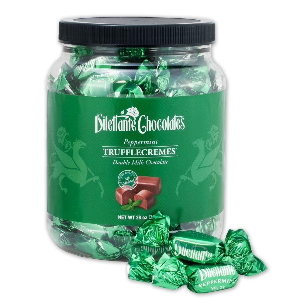 Peppermint Chocolate TruffleCremes Double Milk Chocolate No. 23-28oz Jar