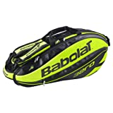 Babolat Pure Aero 6 Pack Racquet Bag Black and Lime