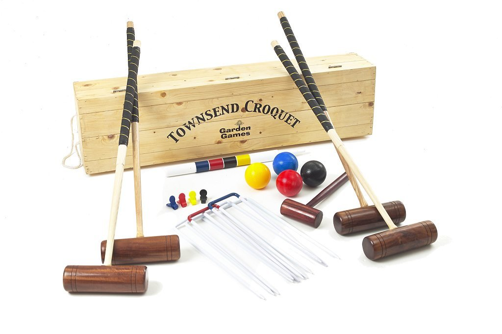 Garden Games Townsend Croquet Set (4 player in wooden box) by Garden Games