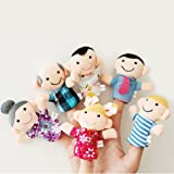 Electomania Family Finger Puppets - People Includes Mom, Dad, Grandpa, Grandma, Brother, Sister