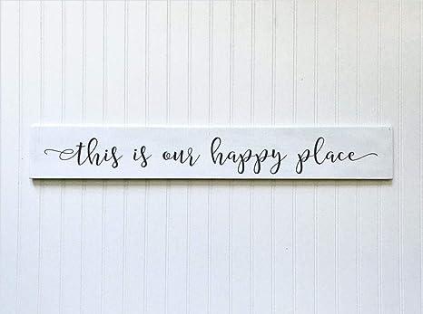 Amazon.com: CELYCASY Este es nuestro cartel de feliz lugar ...