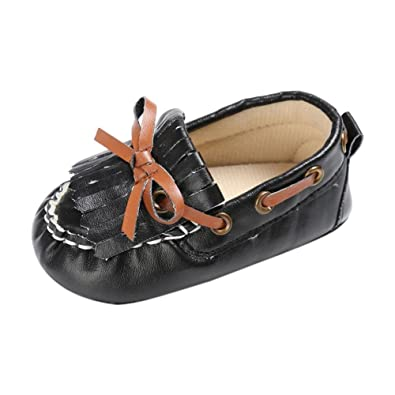 770a3a570cc Voberry Baby Toddler Girl Boys  Leather Slip-On Loafers Tassel Bowknot Flat  Shoes Sneakers