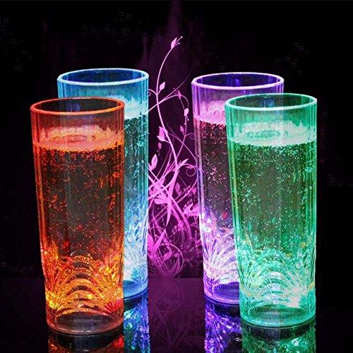 クリエイティブ誘導LED水ビールカップバーKTVウイスキーカップColorfu Night Light Cup B075QMGGSD 13455