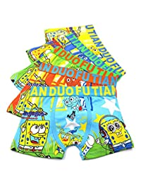 2-8 Years Old Boys Character Boxer Briefs Vibrant Colors Underwear 5 Pack