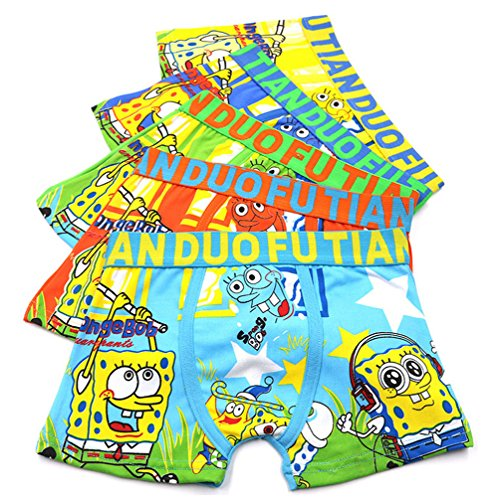 2-8 Years Old Boys Character Boxer Briefs Vibrant Colors Underwear 5 Pack -