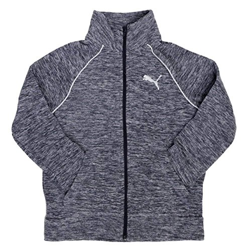 Puma Womens Fleece - PUMA Girls' Full Zip Fleece Jacket (Navy Heather, X-Large (16))