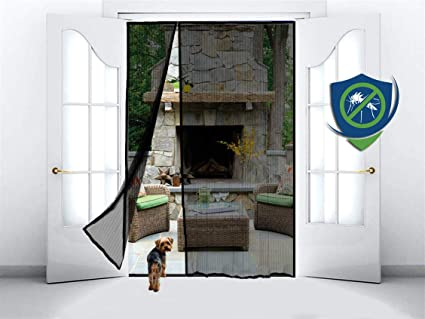 Magnetic Screen Door For French Door Sliding Patio Door Double Door Covers The Entire Door Frame Offset To One Side To Perfectly Match Your Door