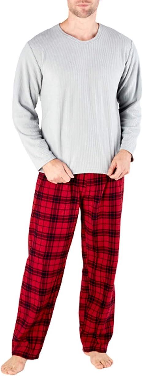 Harvey James - Pijama de forro polar térmico para hombre, con diseño a cuadros
