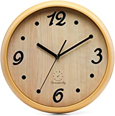 DreamSky 13 Inch Large Wall Clock, Non Ticking Silent Quartz Decorative  Clocks, Battery