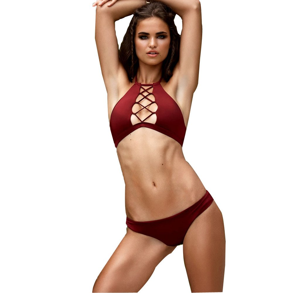 Amazon.com: Newkelly Swimsuit Beach Swimwear Women Bandage ...