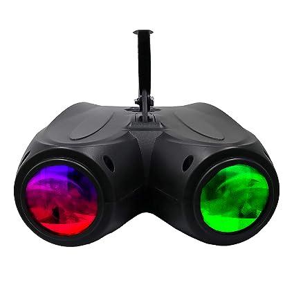 128 luces LED para discoteca o DJ, 20 W, RGBW, doble cabezal ...