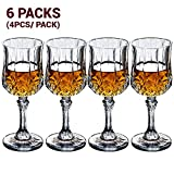7.9 Ounce Crystal Wine Glasses 6 Sets (Total 24 Pieces)