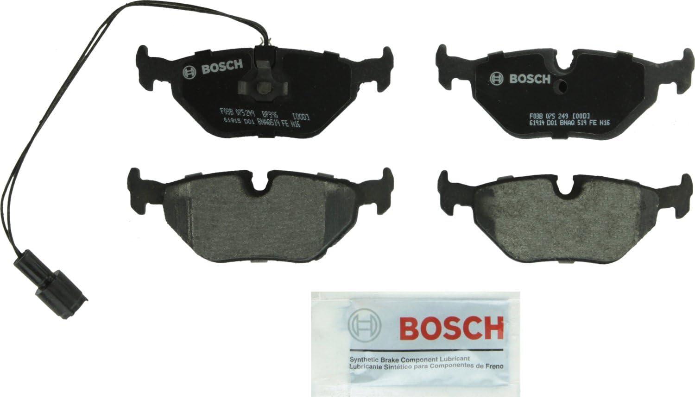530 528 318 320 525 740 i, is, iT, iL 325 525 M5 M3 328 Bosch BP396 QuietCast Premium Semi-Metallic Disc Brake Pad Set For Select BMW 535 540 735 750 Z3; Rear