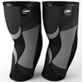 Elbow Compression Sleeves Pair | Support for Tendonitis, Golfers Elbow, Tennis Elbow, Joint Pain Relief, Workout Protection - Alpha Lifting Gear (Medium)