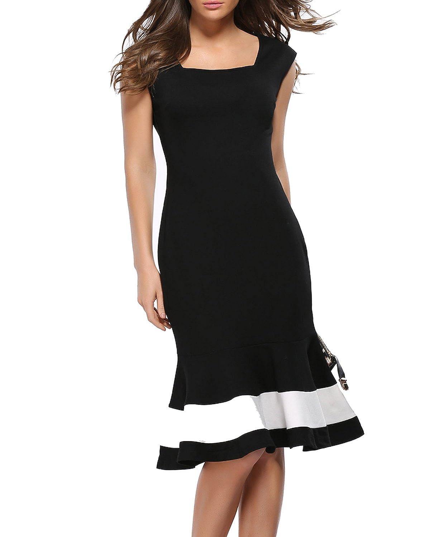 William&Lisa Sexy Low-cut Sleeveless tunic Fishtail skirt Boutique dress