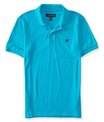 a8eb585a Aeropostale Mens A87 Heathered Rugby Polo Shirt at Amazon Men's ...