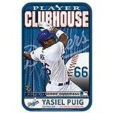 "MLB Los Angeles Dodgers 81230013 Plastic Sign, 11 x 17"", Black"