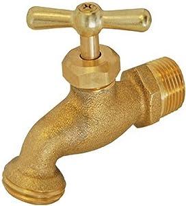 EZ-FLO 20181 Irrigation Hose Bibb, 1/2 inch MIP x 1/2 inch MHT, Brass