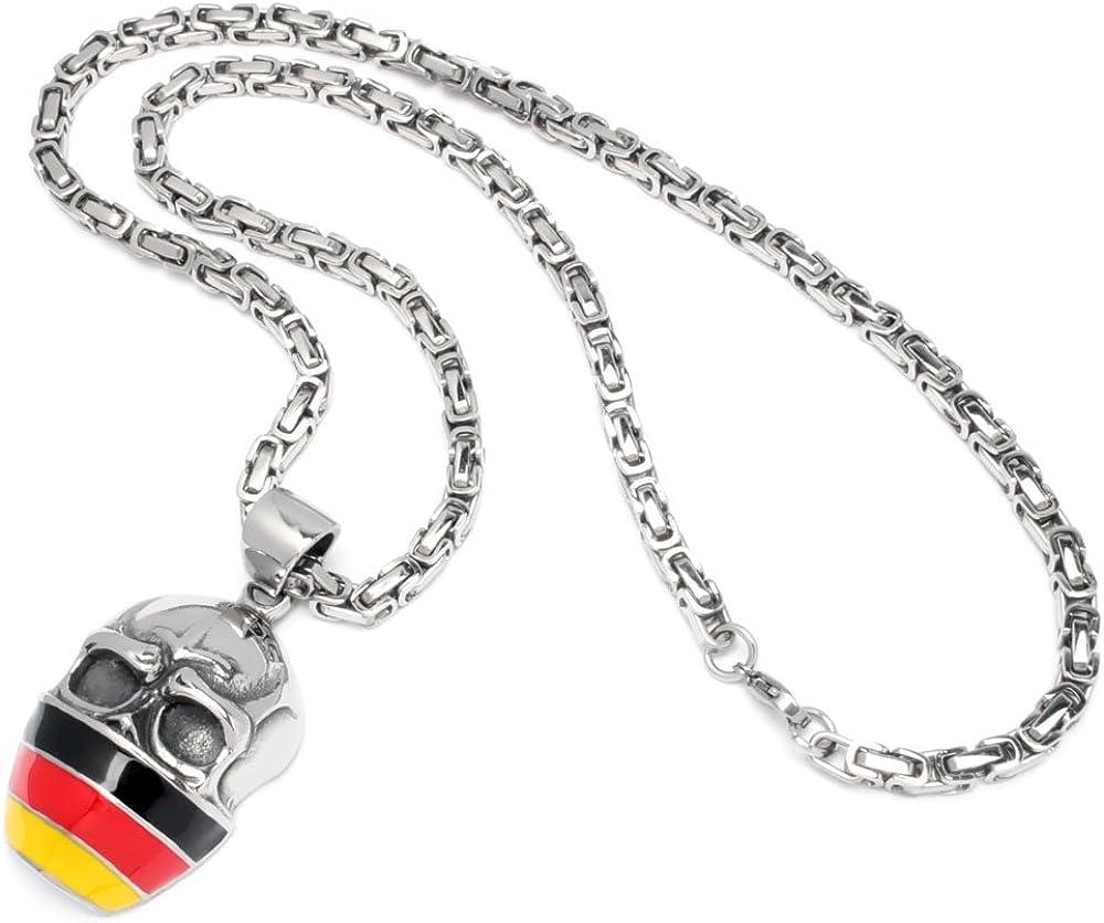 Schmuck Checker Deutschland Anhänger Schädel Flagge Ultra