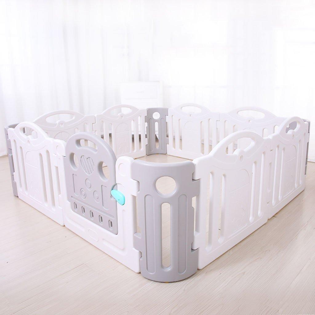 190 * 190cm、8パネル+ 4コーナー、安全で丈夫で安全なラーニングセンターを含むベビープレイパネル12プラスチックパネル (色 : Gray+white)  Gray+white B07F39TG95