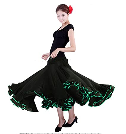 Spain Dancing Girls Flamenco Traje De Flamenca Long Skirt at ...