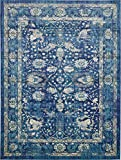 A2Z Rug Navy Blue 10' x 13' FT St. Martin Collection Area rug - Vintage Inspired Overdyed Perfect for Living Dinning Room and Bedroom Rugs, Interior Modern Floor Carpet Design