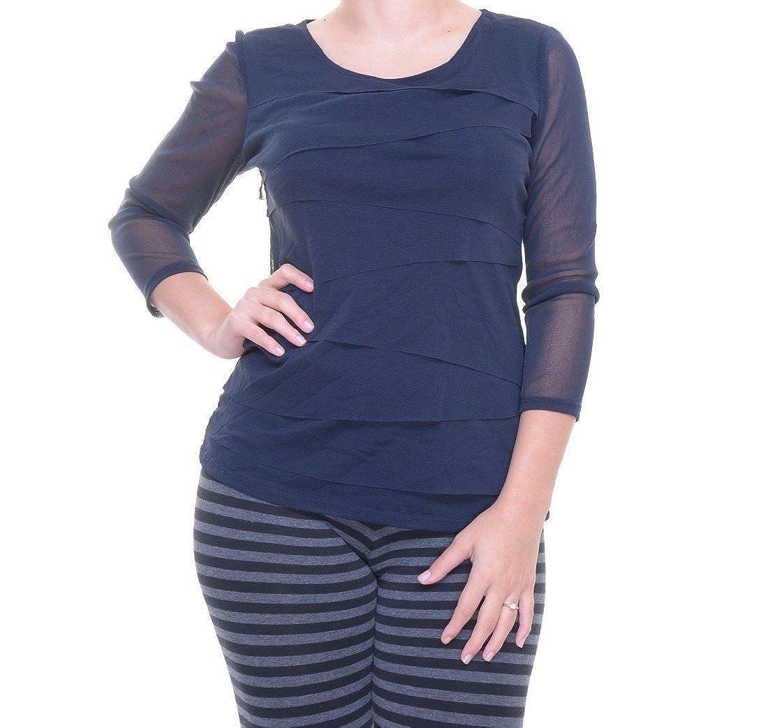 4e018e87de513 Alfani Petite Tiered-Mesh Illusion-Sleeve Top Size P P at Amazon Women s  Clothing store