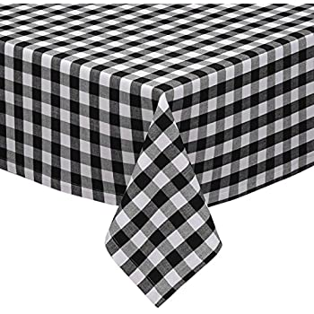 Amazoncom Black And White Checkered Kitchendining Room Tablecloth