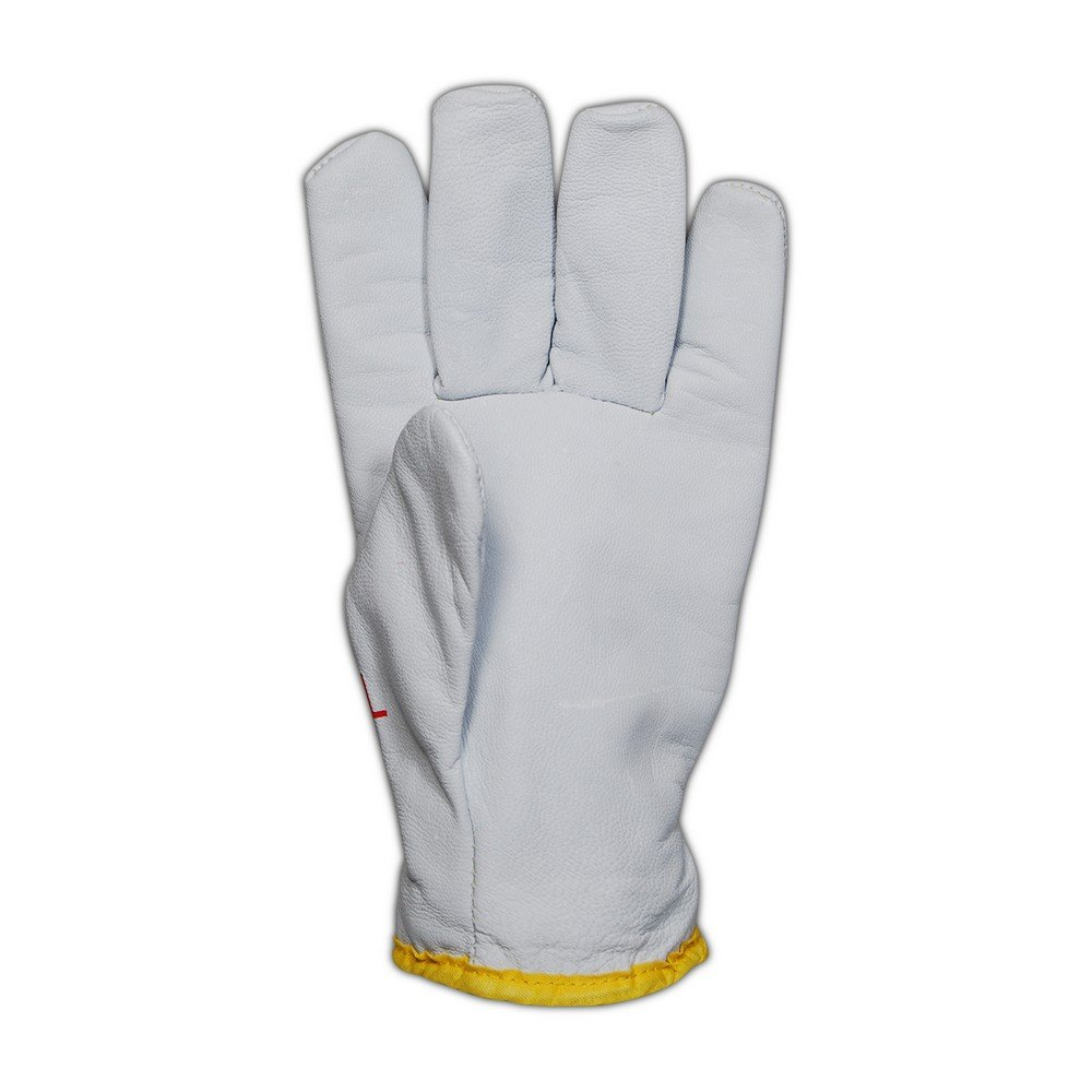 Magid Glove & Safety 2443DEXKS-XL Cut Master XKS 2443DEXKS Lined Goat Grain Leather Drivers Glove – ANSI Cut Level 4, ANSI Puncture 3, White, XL (12 Pairs) by Magid Glove & Safety (Image #3)