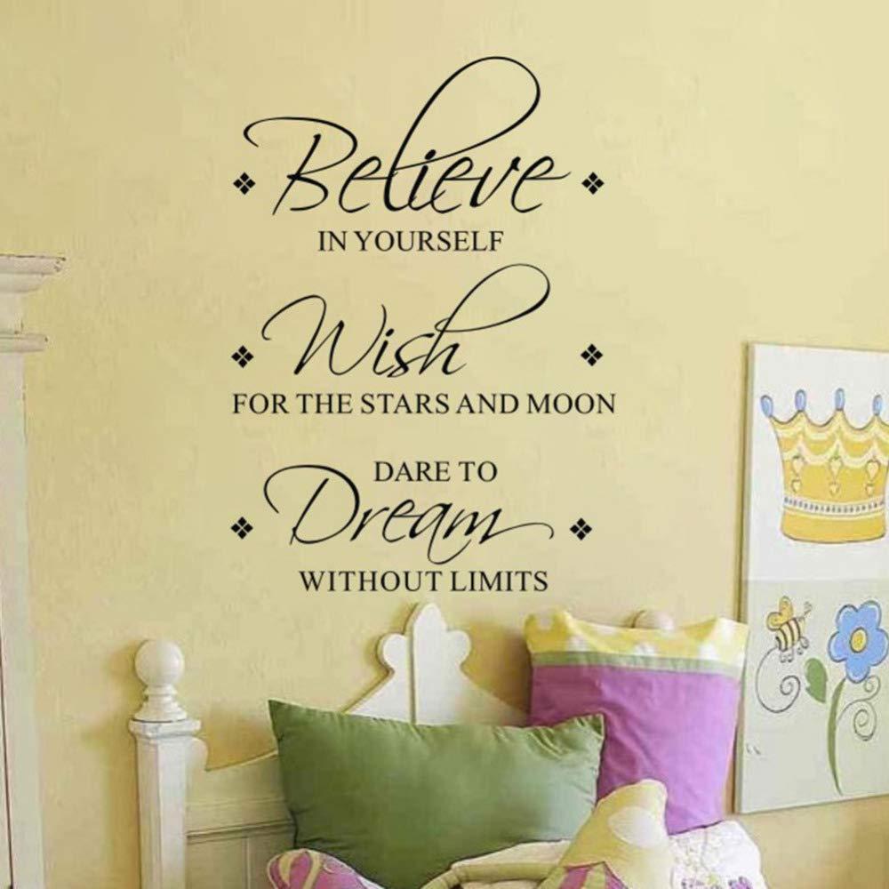 Believe Wish Dream Tatuajes de pared Extraíbles Vinilos de Pared ...