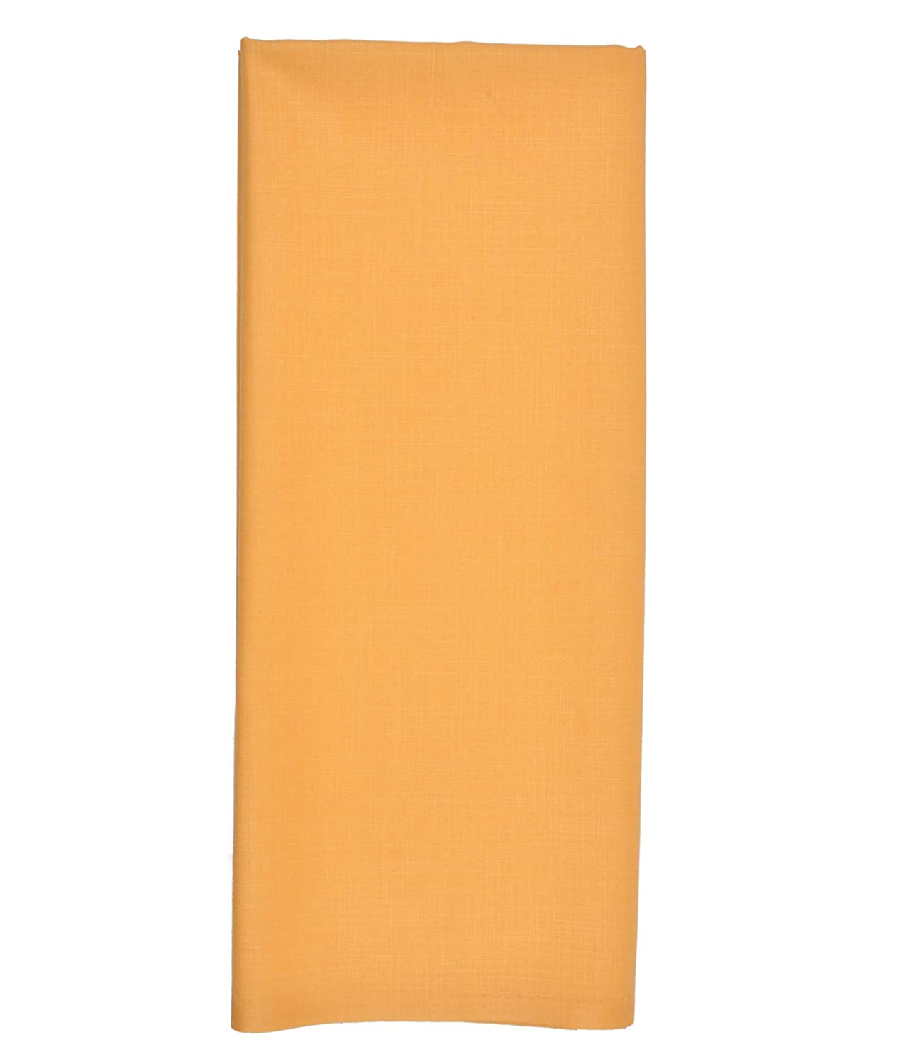 SHINY STRIPED ORANGE COTTON FABRIC-SOLD BY THE METER
