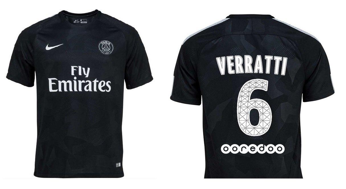 Trikot Kinder Paris Saint-Germain 2017-2018 Third - Verratti 6