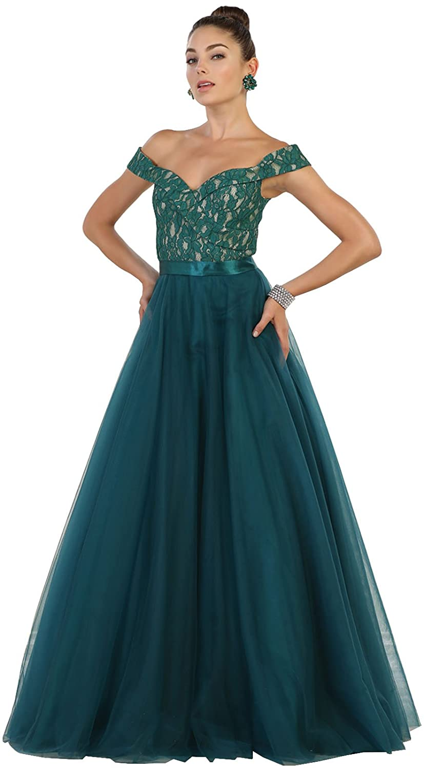 May Queen MQ1533 A-line Prom Dance Designer Dress at Amazon Womens Clothing store: