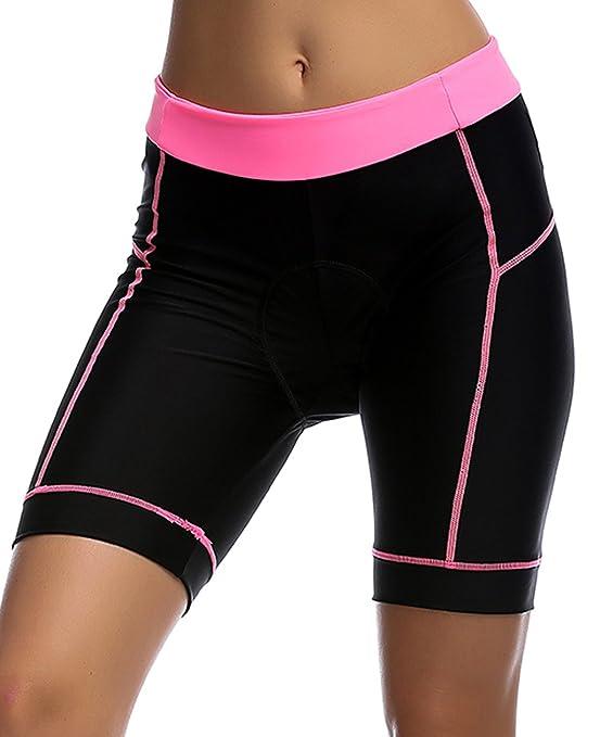 UDIY Womens Cycling Shorts - Breathable 3D Padded Cycling Tights Bicycle Bike Half Pants