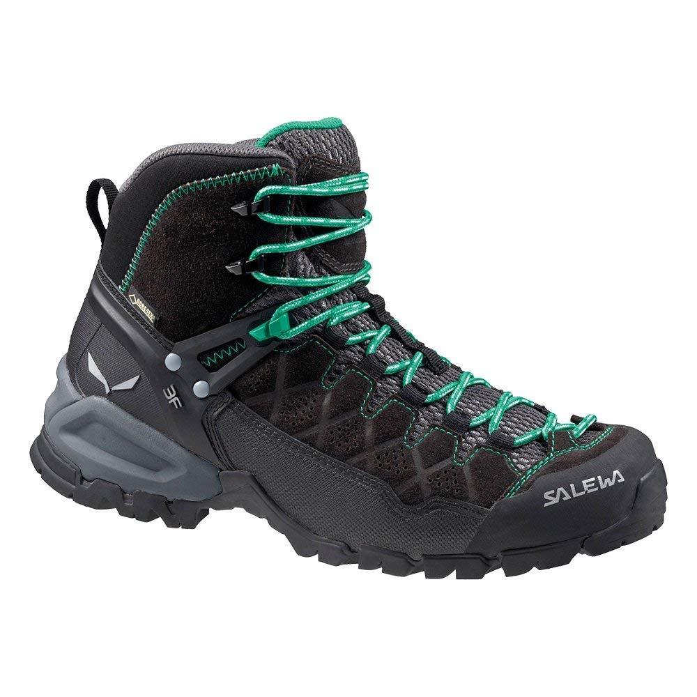 noir 40.5 EU Salewa WS Alp Trainer Mid GTX, Chaussures de Randonnée Hautes Homme