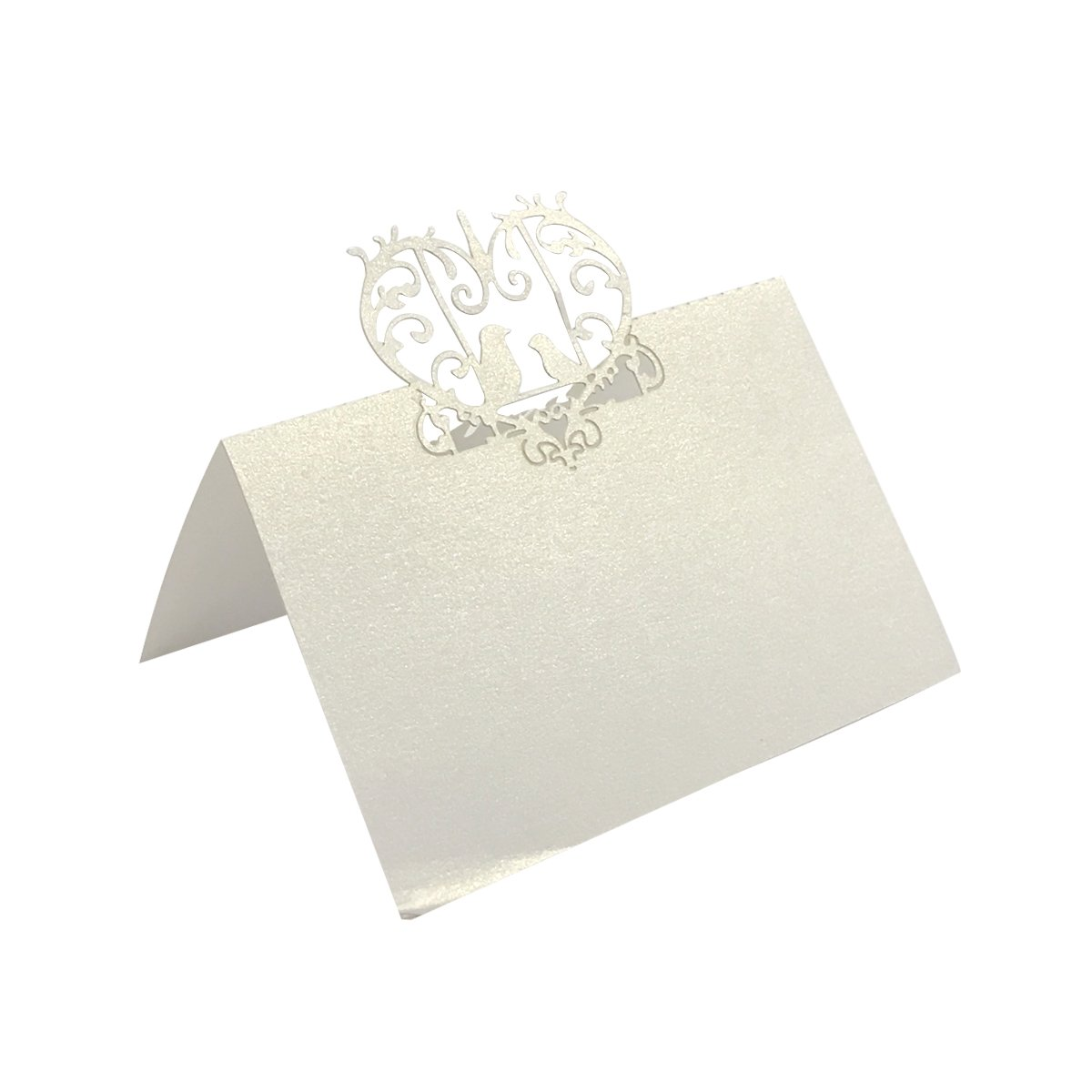 Allydrew Laser Cut Wedding Table Setting Place Cards (Set of 50), Birds