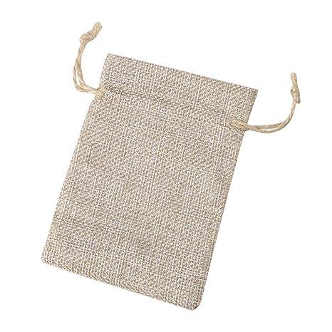 Toyvian Bolsa de cordón de lino Bolsa de cordón Bolsa de ...