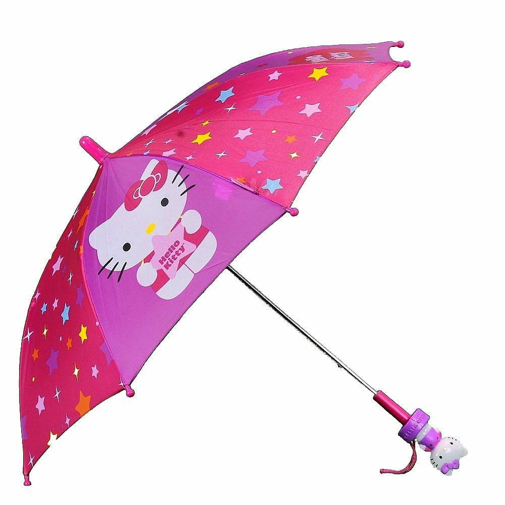 Paraguas - Hello Kitty - estrellas rosa y morado moldeado mango nuevos juguetes 692343: Amazon.es: Ropa y accesorios