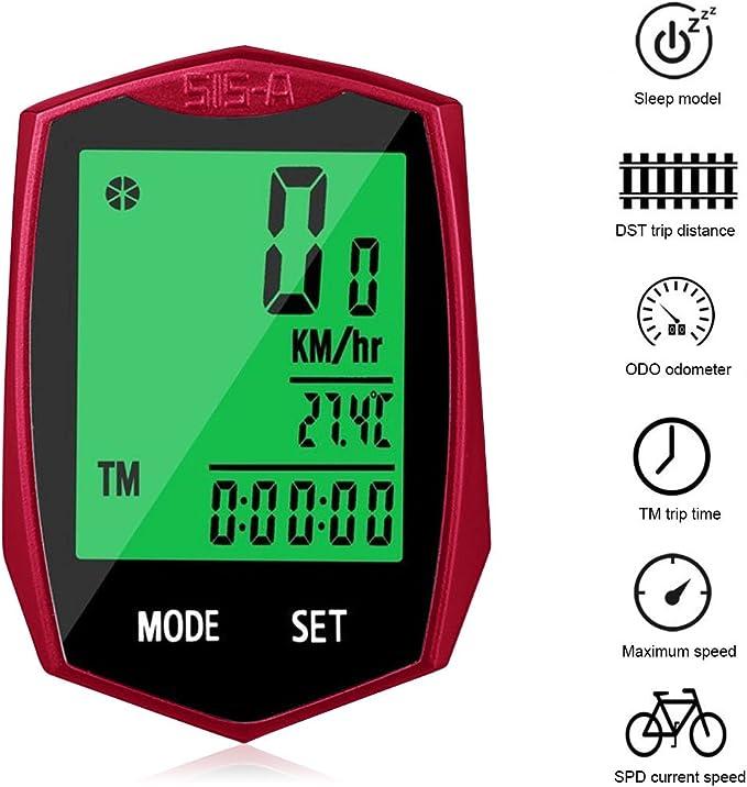 Fengyuanhong V/élo Compteur de Vitesse sans Fil Cycle odom/ètre /étanche Vitesse Enregistreur Compteur de Vitesse /écran Lumineux Portable