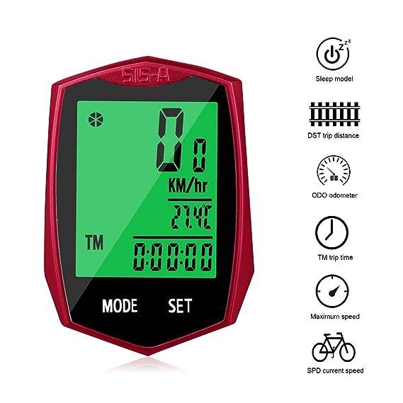 KOROSTRO Ciclocomputador, inalámbrico LCD bicicleta velocímetro ...