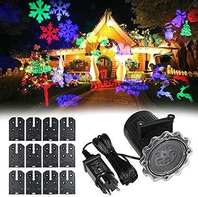Festnight Proyector de luz Animado Proyector LED Luz de Navidad ...
