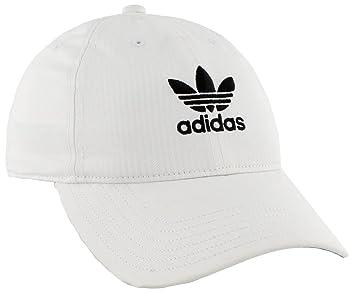 e09310568b40b3 Adidas Women's Originals Relaxed Adjustable Strapback Cap, White/Black, One  Size
