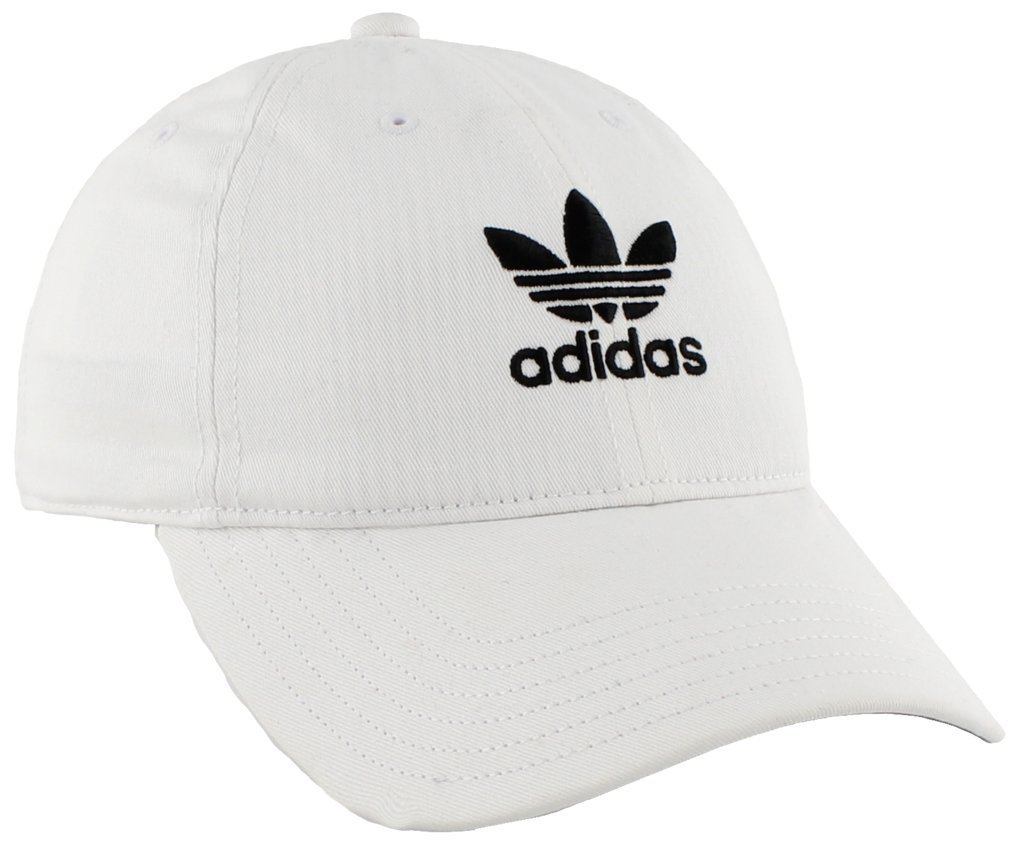 adidas Women's Originals Relaxed Adjustable Strapback Cap, White/Black, One Size