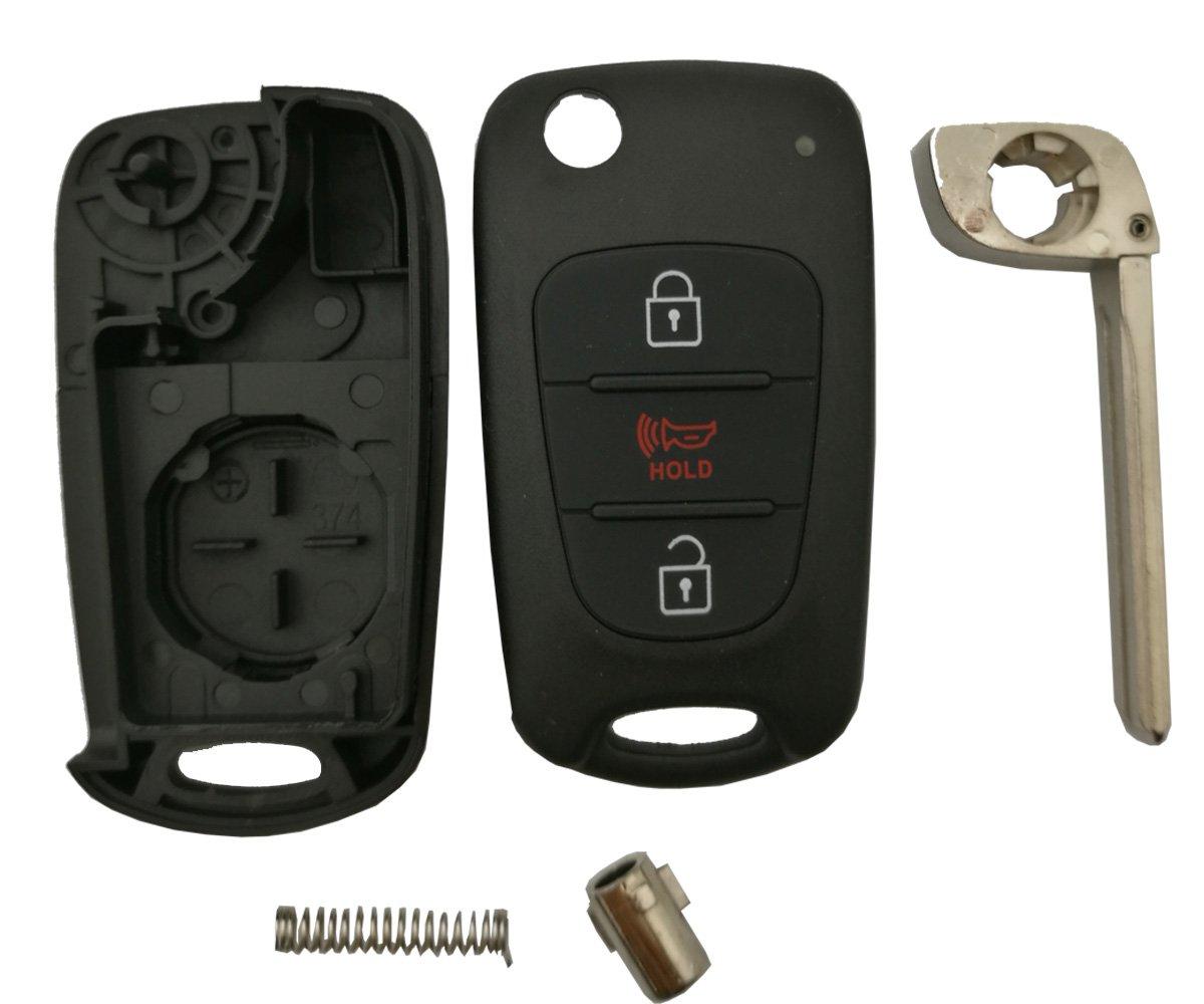 Amazon.com: Carcasa para llave de coche para Kia Soul Rio de ...