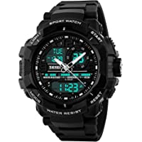 SKMEI Analog-Digital White Dial Men's Watch-1164 Black
