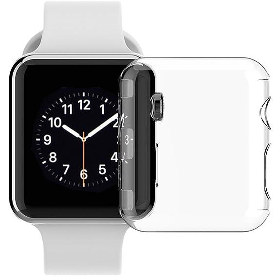 half off eda7c 99ed7 Amazon.com: Apple Watch Series 3 42mm Case, Transparent Clear Hard ...