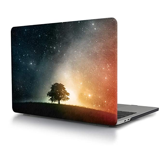 TwoL Carcasa MacBook Air 13 A1932, Carcasa Rígida Protector de Plástico para MacBook Air 13 2018 Versión Modelo A1932 Natural