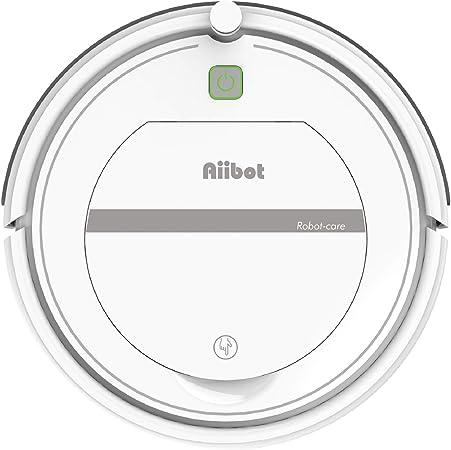 Aiibot Aspirador Robot con Sistema de Limpieza de 3- Etapas, Sensor Inteligente de Detención de Caídas, Filtro HEPA, para Apartamentos/Casa Pequeña/Piso Duro/Alfombra de Pila Baja (T288-white): Amazon.es: Hogar