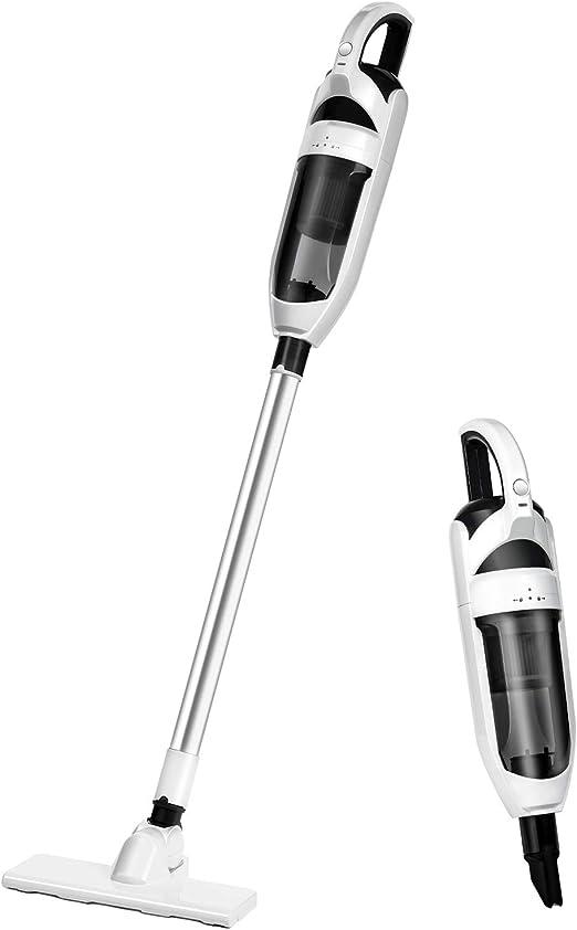 Opinión sobre Akiiva Aspiradora Escoba sin Cable de 10Kpa, Aspirador Vertical 2 en 1, 600ml, con HEPA Filtros Lavables y 3 Cepillos, Batería de 2200mAh Recargable para Hogar Piso Coche