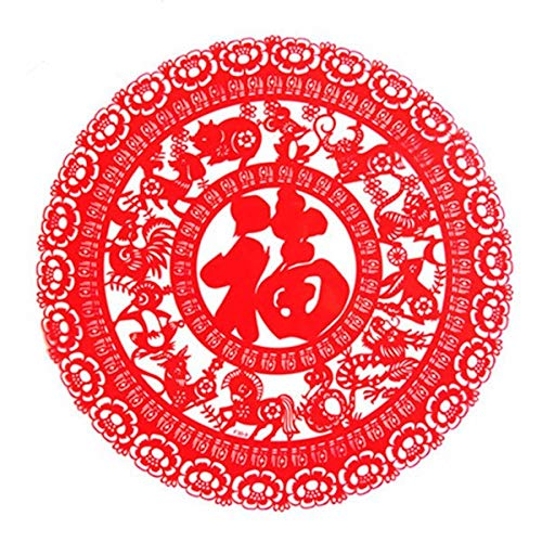 Price comparison product image Hokcus Chinese New Year Window Stickers Christmas Decorations for Home Door Decorative Films New Year Decor Static Electricity Stickers - (Color: f30-9)